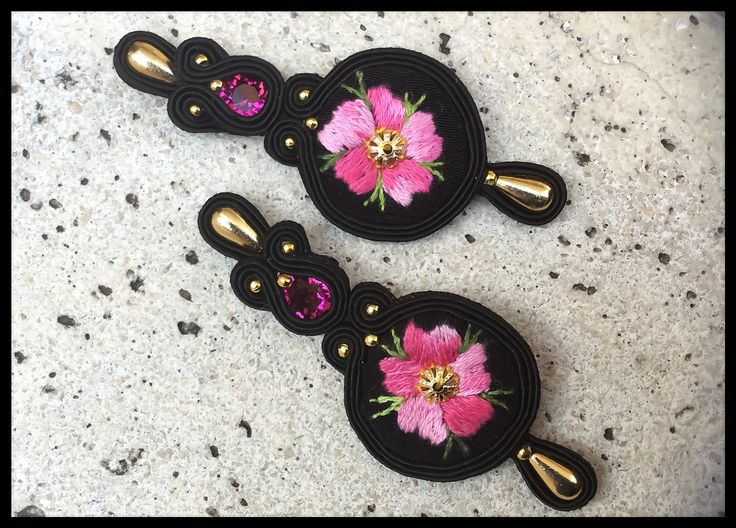 Sardinian embrodery work with black soutache