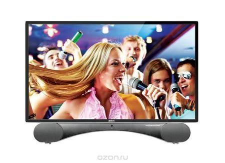 BBK 24LED-6003/FT2CK, Black телевизор  — 15590 руб. —  Отличительной особенностью телевизоров BBK серии ULTRASOUND является эксклюзивная подставка, представляющая собой стильную звуковую панель и превращающая телевизор в настоящий домашний центр развлечений. Благодаря использованию высококачественных динамиков и программных решений Sonic Boom удалось добиться уникального мощного и вместе с тем естественного звучания. Существенным плюсом является наличие мультиформатного DVD-плеера с…