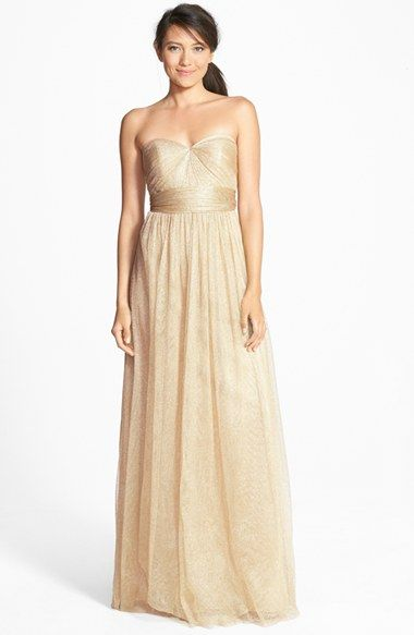 Free shipping and returns on Jenny Yoo 'Annabelle' Convertible Tulle Column Dress (Plus Size) at Nordstrom.com. Ethereal tulle overlays a wispy strapless gown designed with long panels that can be artfully wrapped and tied over the bodice to create more than 15 elegant looks.