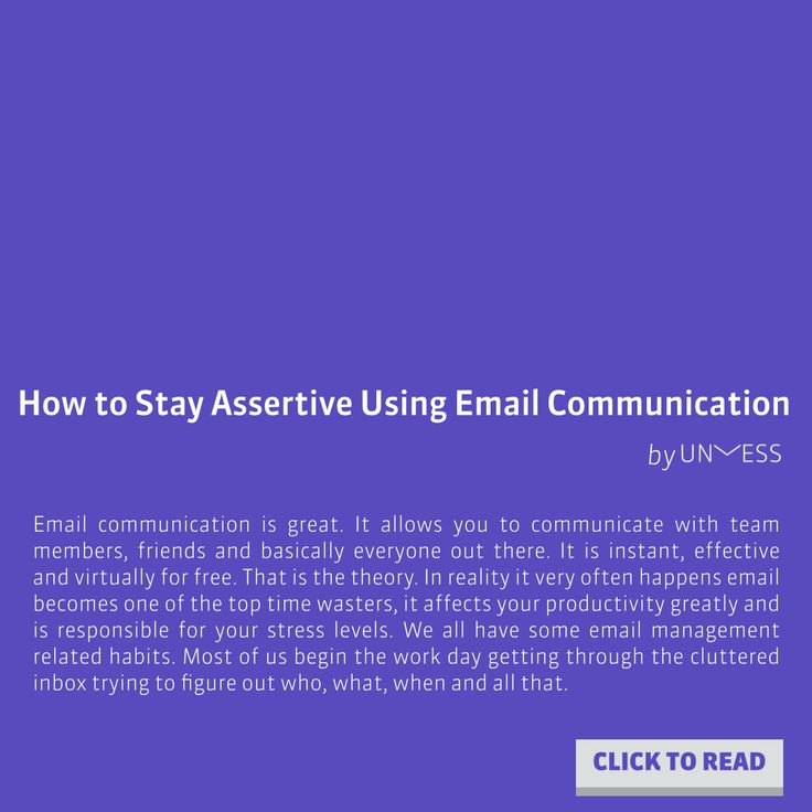 How to stay assertive using email communication