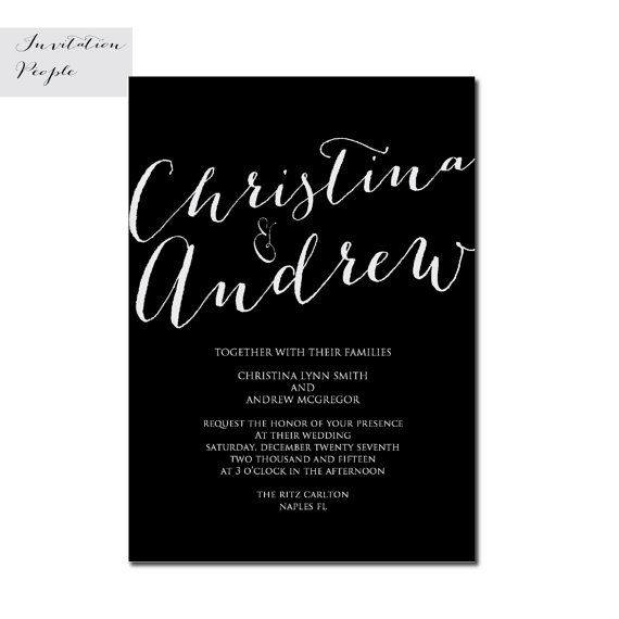 BLACK & LINEN WHITE  Wedding Invitation Soft Blush Pink Vintage Dyed Shower Free Shipping 57-4