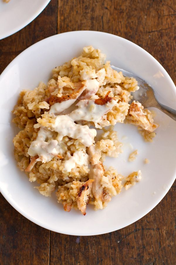 Chicken and Rice Casserole - Pinch of Yum Includes recipe for homemade ...