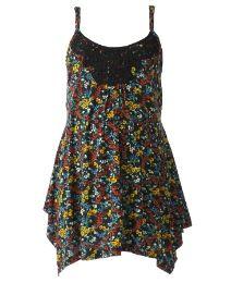 Plus Size Maternity Vest Top Floral - $36.00