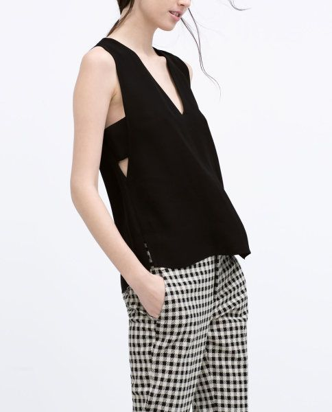 Zara New In Cut-Out Top £29.99
