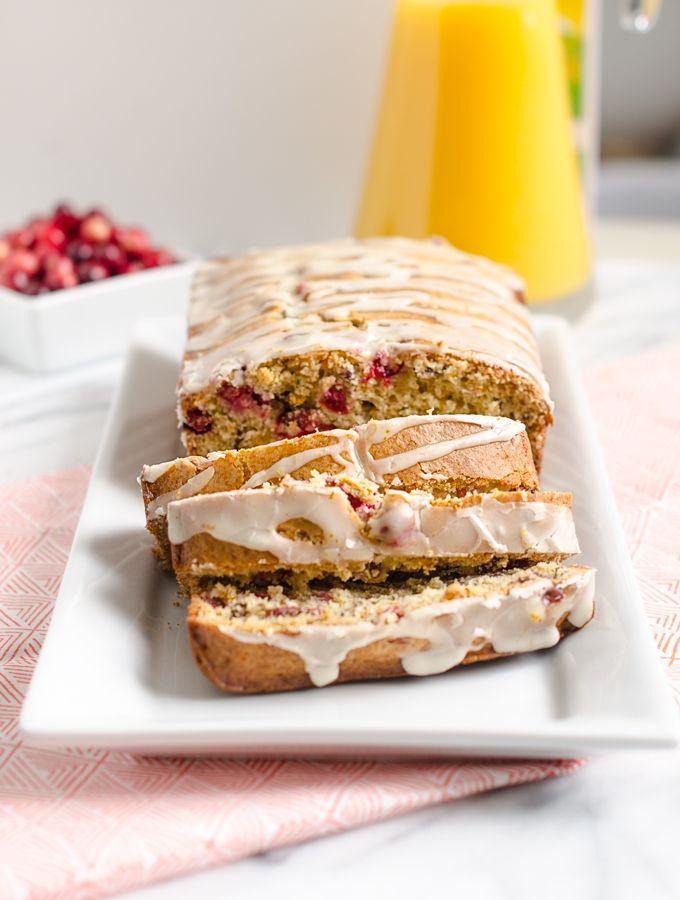 Orange Cranberry Bread with Orange Sugar Glaze. This moist bread is full of fresh cranberries and orange flavor. Orange zest and a sweet glaze make it fabulous. | www.chicandsugar.com