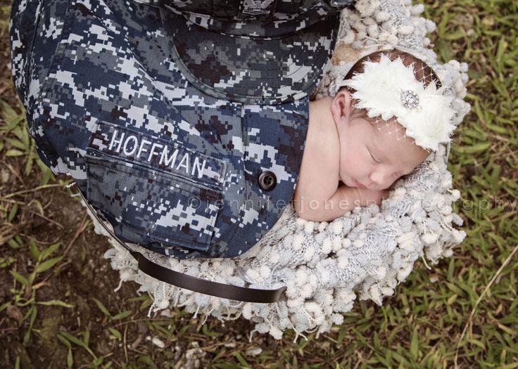 Aloha, Baby! Hawaii newborn photography {part 2} - Jennifer Jones Photography   military   photoshoot   Navy   uniform   Hawaii