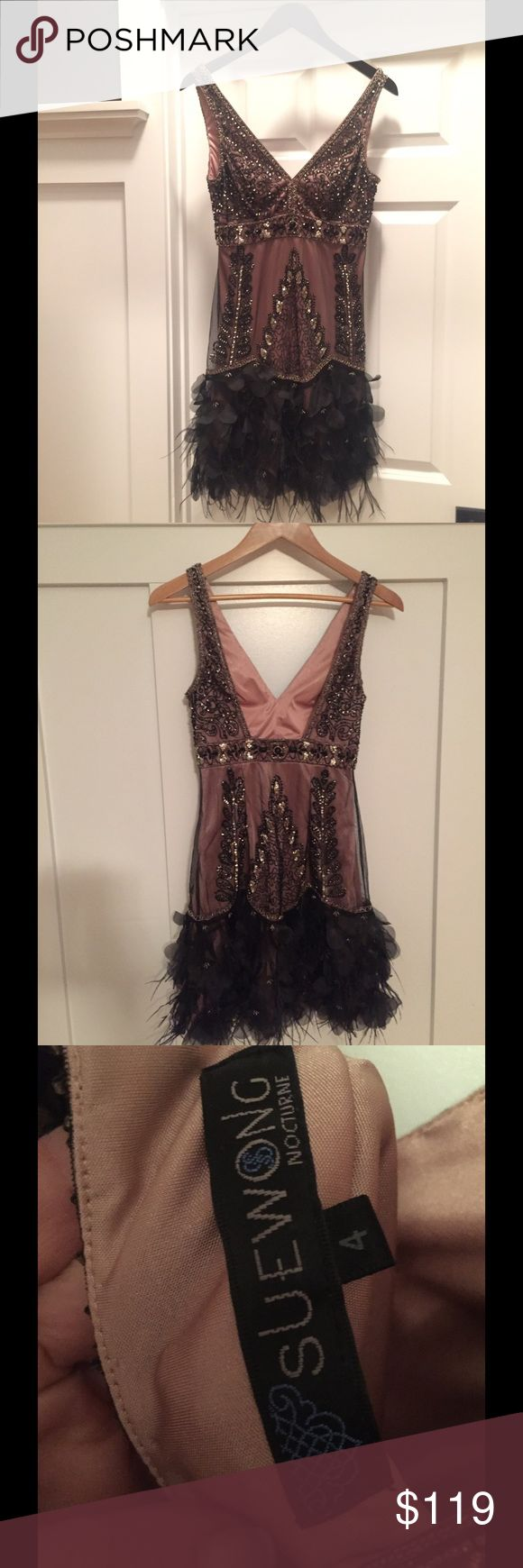 """Sue Wong Dress This stunning Sue Wong dress has a Great Gatsby"""" look to it.  It is in excellent condition as it was only worn once for a few hours. Sue Wong Dresses Wedding"""