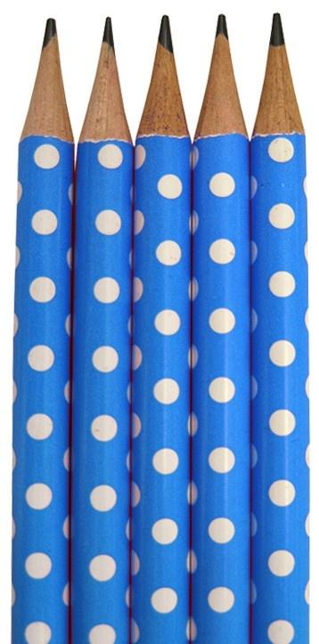 Blue Polka Dot Pencils