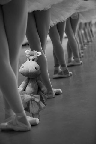 """Ballarina Hippo practicing""  Cloth doll made by PouPée-Pe"
