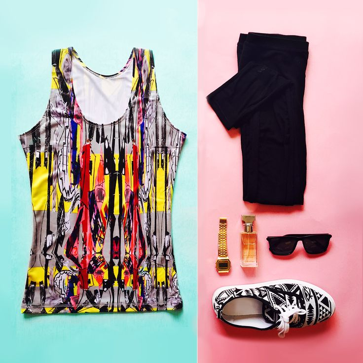 Tank tops totally match with everything! #tanktop #fashion #style #outfit #top #tank