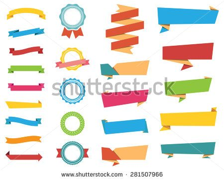 This image is a vector file representing Stickers, Labels Banners and Ribbons collection set./Vector Stickers, Labels, Banners and Ribbons/Vector Stickers, Labels, Banners and Ribbons