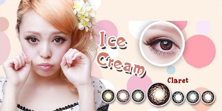 Crazy Horror Red Cosmetic Colored Contact Lenses Halloween Cosplay Strawberry Series Claret