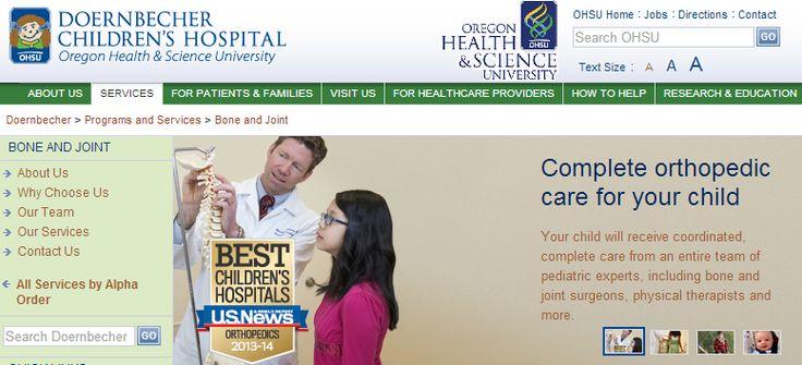 Portland, OR: OHSU Doernbecher Bone and Joint Clinic (aka Pediatric Orthopedics and Rehabilitation)