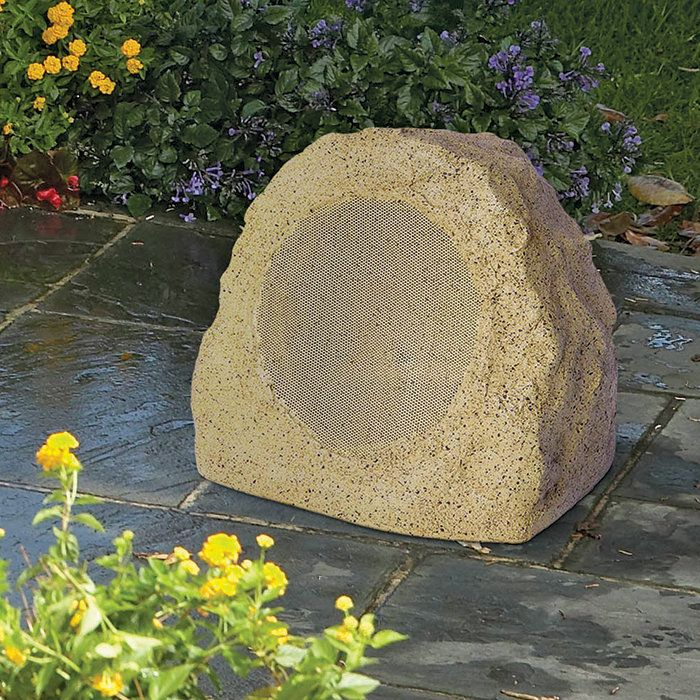 outdoor bluetooth patio speakers. ion audio rock speaker bluetooth outdoor wireless garden and patio (single) speakers