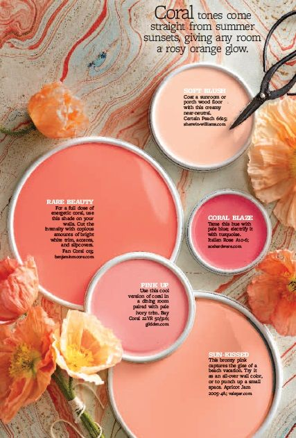 I love me some coral and blush!