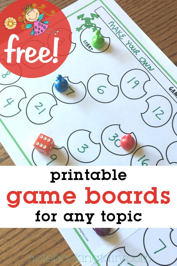 free printable Game Board Templates (for any subject)
