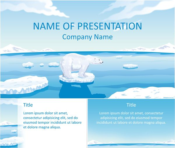 7 best environment powerpoint templates images on pinterest polar bear powerpoint template toneelgroepblik Images