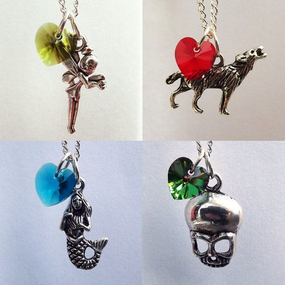 Tink & Red & Ariel & Pan Once Upon A Time Character Necklaces