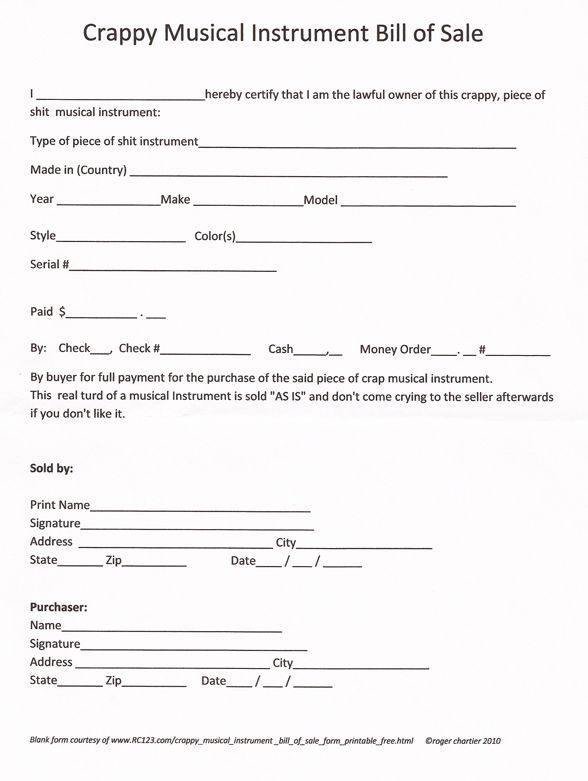 Printable Sample Bill Of Sale Pdf Form Real Estate Forms