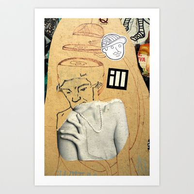 Sliced head Art Print by Plasmodi - $16.00