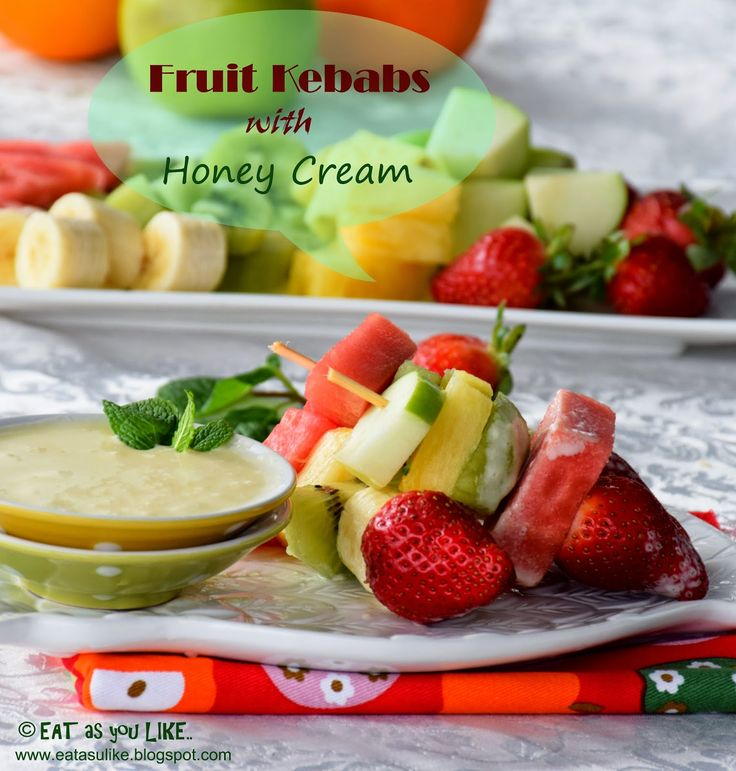 Make fruits fun for your little ones with these mini fruit kebab sticks with delicious Honey Cream drizzle.They will be gone in jus...