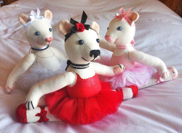 Flirty trio dancers