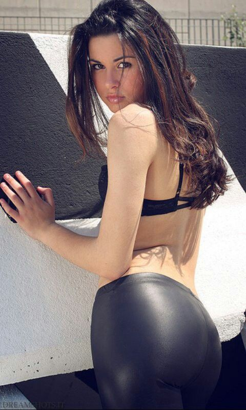 Nude women in leather pants have faced