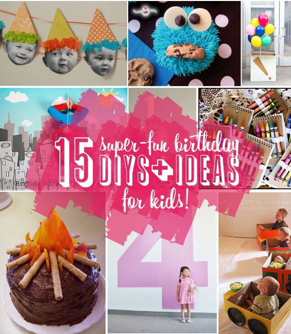 15 Super-Fun Kids Birthday DIYs **Don't forget to add your GradSave profile on the invitations!**