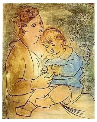 Mother: Mothers And Child, Artistpablo Picasso, Mothers Day, Artists Pablo Picasso, Mother And Child, Artpablo Picasso, Children, Child Art, Painting