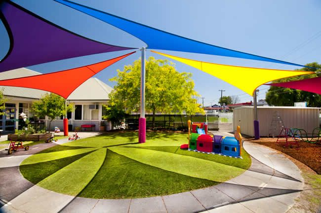 pictures of modern daycare   Shade Sails for Schools and Businesses