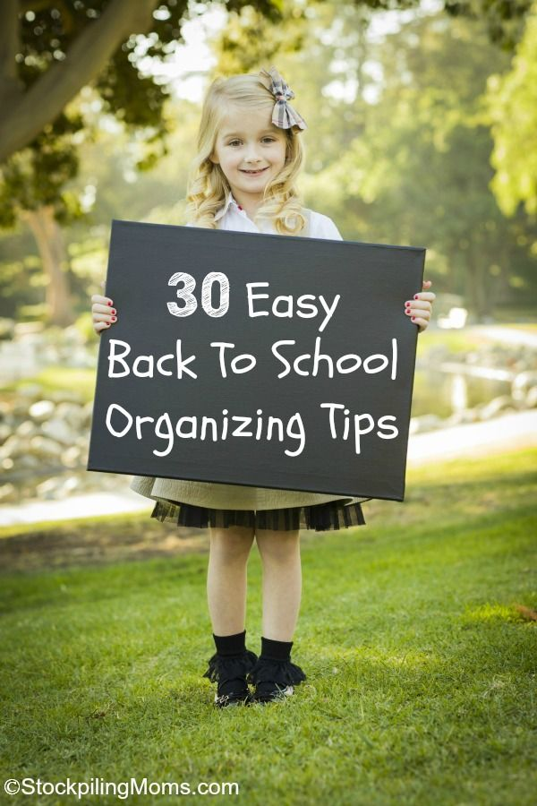 30 Easy Back To School Organizing Tips to help this school year start without a hitch! #BackToSchool @attunefoods #ad