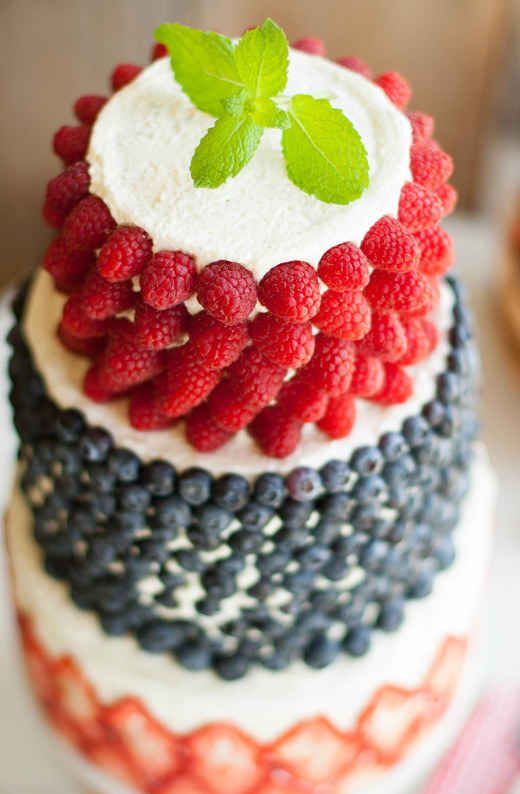 Head to the farmers market to get the decorating ingredients for this fruity cake.