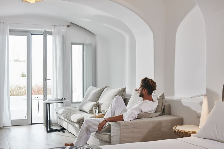 Summer Memories Remembering the priceless relaxing moments in the luxury Mykonos Blanc suite.