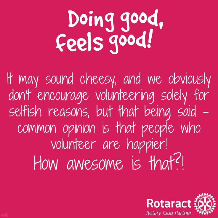 doing good, feels good! Rotaract