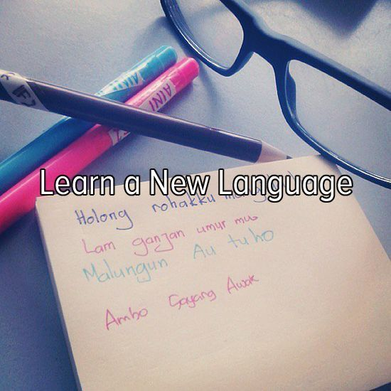 Bucket list: learn a new language!