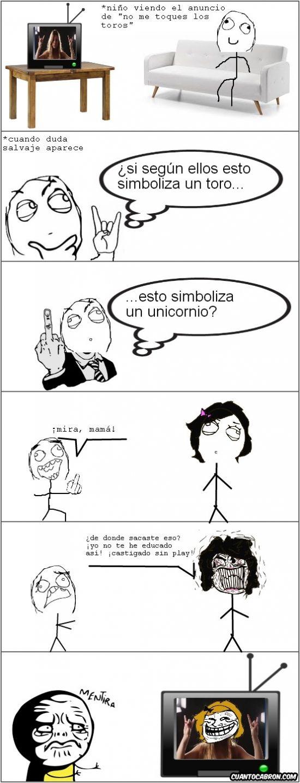 Memes en español: Estos de la televisión siempre maleducando a los niños →…
