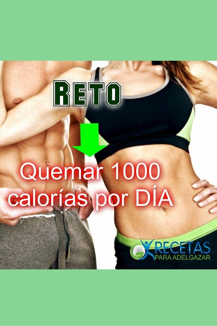 ¿Te animas a quemar 1000 calorías por día? #Fitness