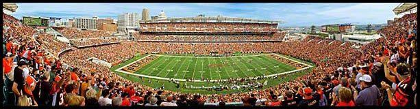 Cincinnati Bengals Wood Mounted Panoramic Poster Print - Paul Brown Stadium