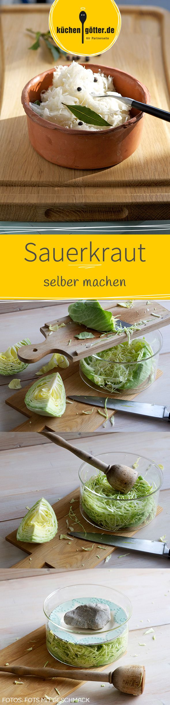 Sauerkraut aus dem Supermarkt? Das geht doch besser: Wir zeigen euch Schritt für Schritt, wie ihr Sauerkraut zu Hause einfach selber macht.