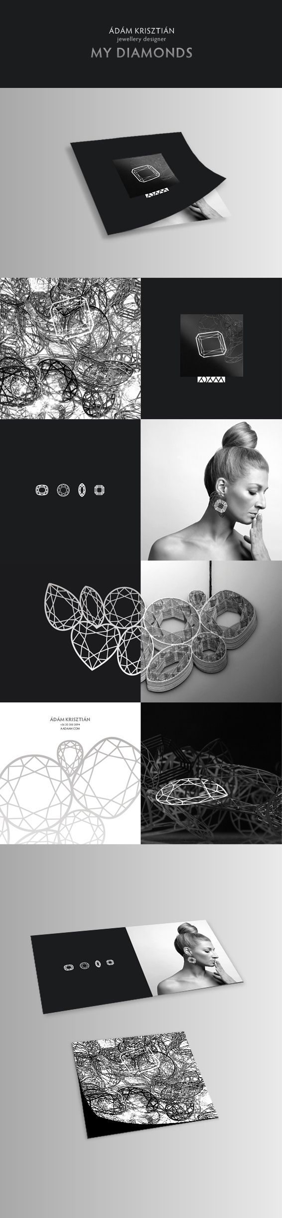 jewellery designer's brochure on Behance