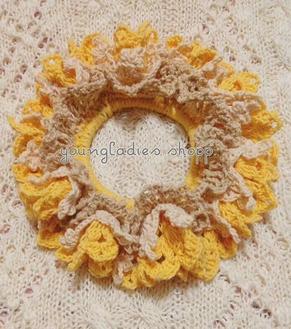 youngladieshome: Crochet Scrunchies 4