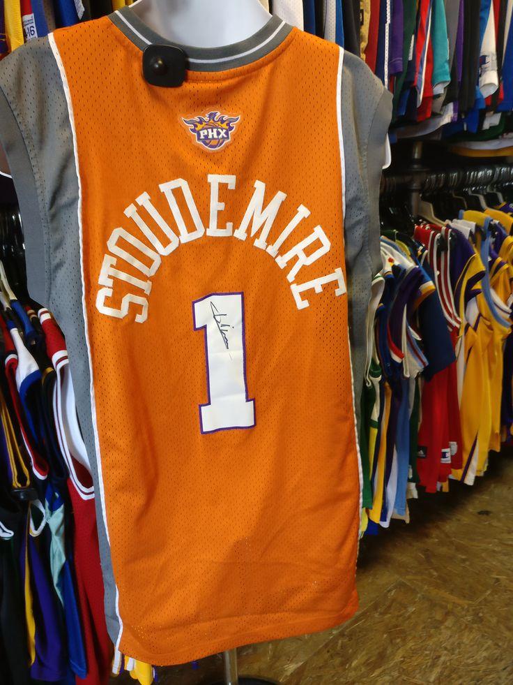 Vtg#1 AMARE STOUDEMIRE Phoenix Suns Adidas Authentic Jersey M (Signed)