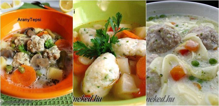 A legjobb gombóclevesek: 5 szuper recepttel - Receptneked.hu - Kipróbált receptek képekkel