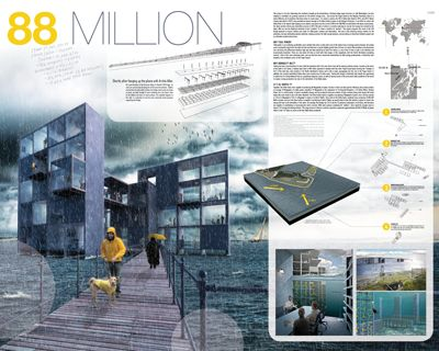 88 Million by Jennifer Hohlbein, Joshua Lafreniere and Dan Blohowiak - Honorable Mention in Rethink Reuse: Transforming Seattle's 520 Floating Bridge 2012 International Design Ideas Competition