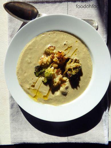 Zuppa di verdure arrostite. Una zuppa invernale, ricca di sapore grazie alla cottura delle verdura al forno.