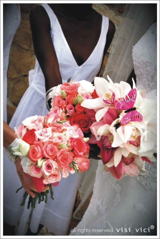 Wedding bouquet | White | pink | roses | orchids | Foto  by AeZ
