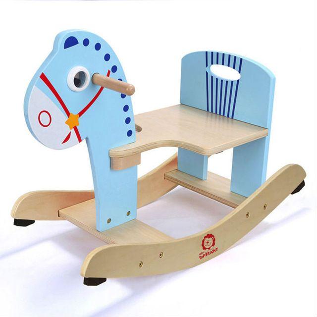 SGS Certificación de Color 10 Más Nuevo Grande 70 cm Mecedora De Madera Caballo Mecedora Para Niños Juguete Envío Gratis Juguetes Para niños