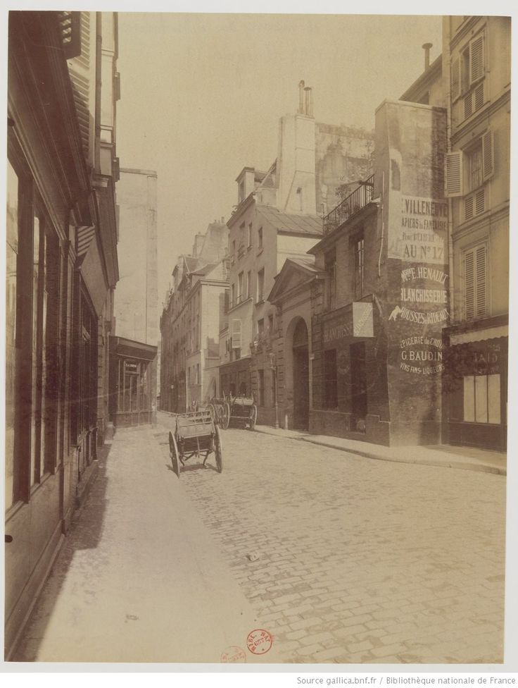 Cour de la rue Séguier - et maison du célèbre théologien Jacques de Ste-Beuve - 1613-1677 - R. Séguier 19 : [photographie] / [Atget]