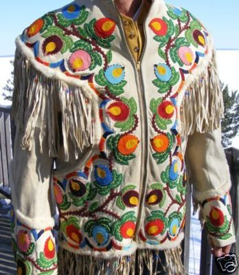 beaded jacket quebec metis beadwork