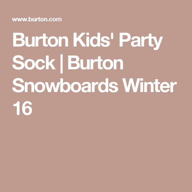 Burton Kids' Party Sock | Burton Snowboards Winter 16
